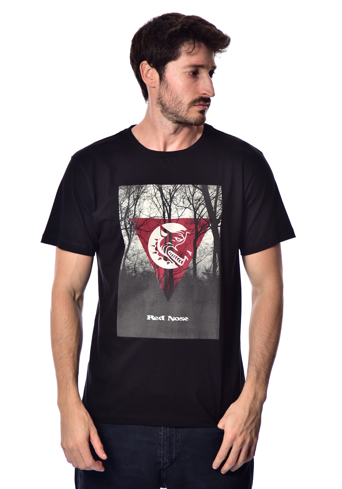 Camiseta Red Nose Triângulo - Preto P
