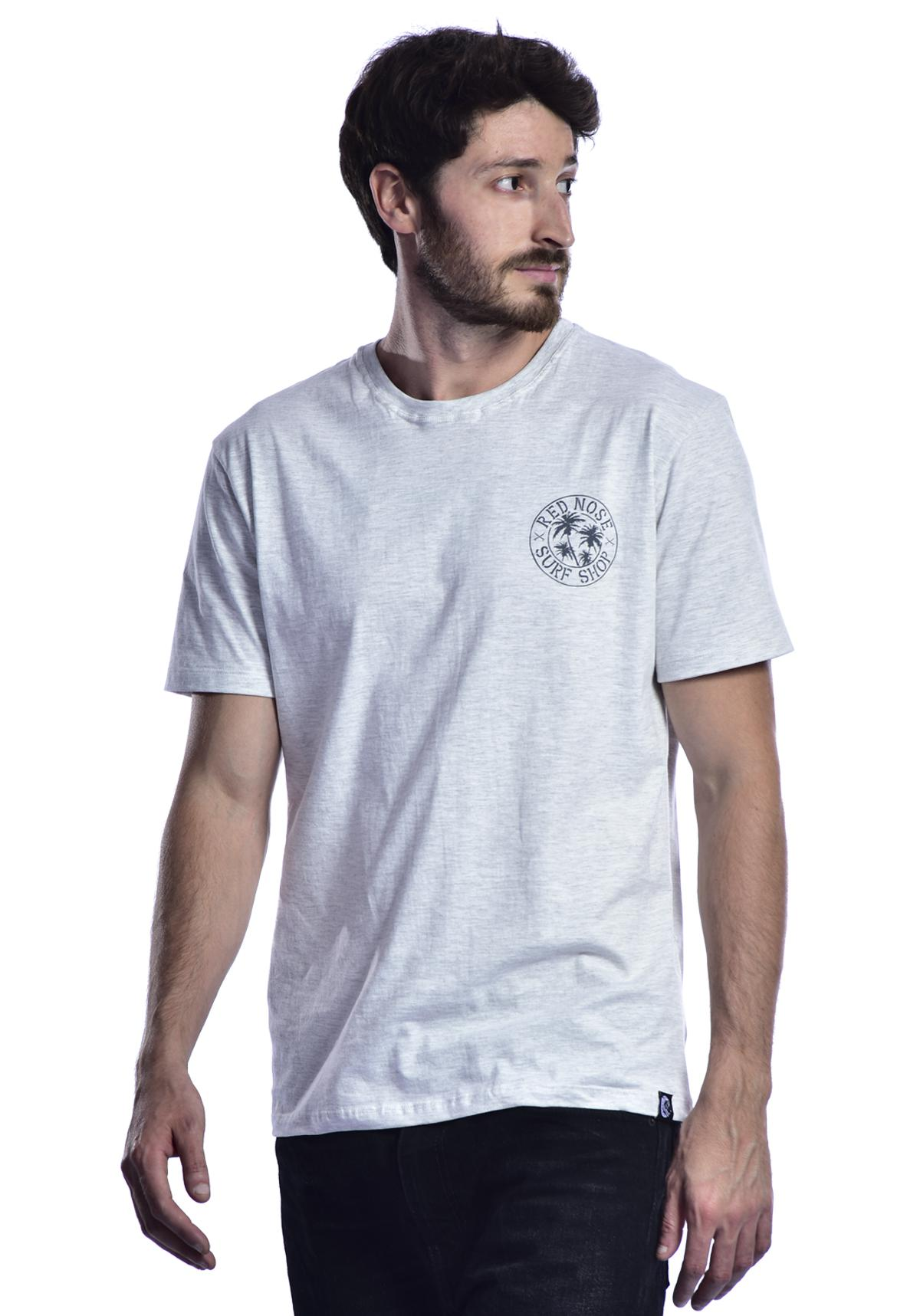 Camiseta Red Nose Surf Shop - Cinza Claro P