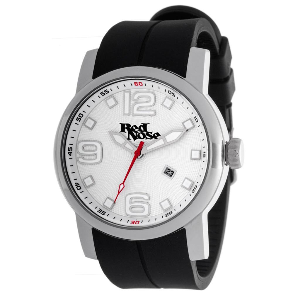 Relógio Red Nose Caving Prata e branco