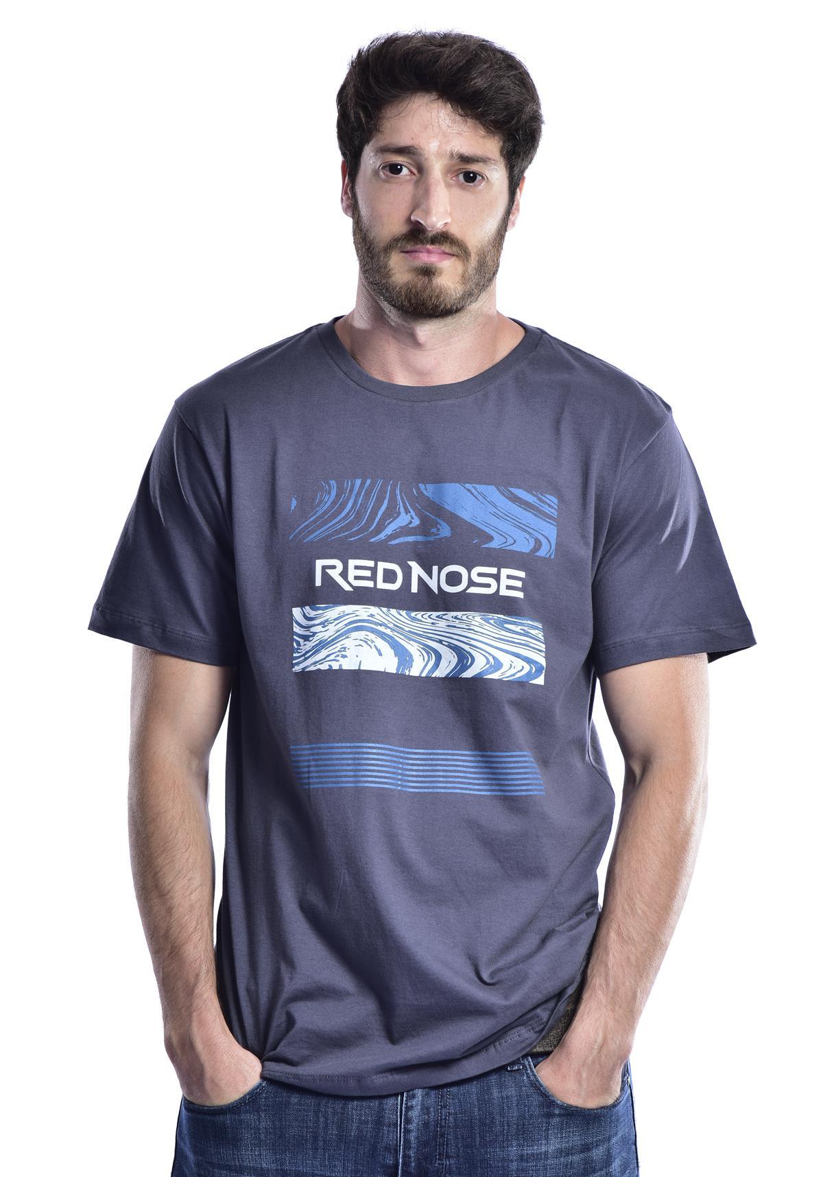 Camiseta Red Nose Areia - Cinza M