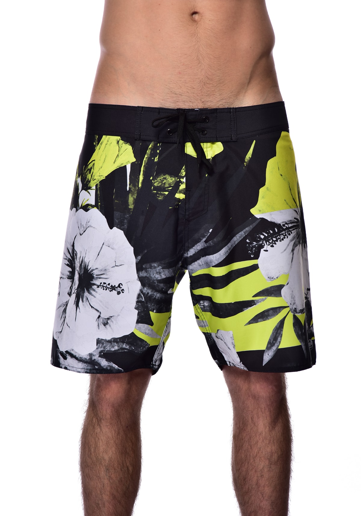 Bermuda Red Nose Boardshort Curto Floral - Preto 38