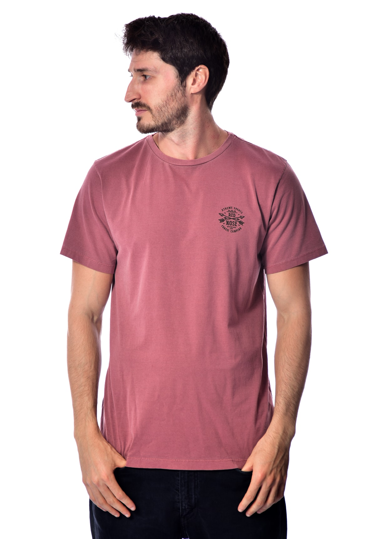 Camiseta Red Nose Forest Camp - Rosa P