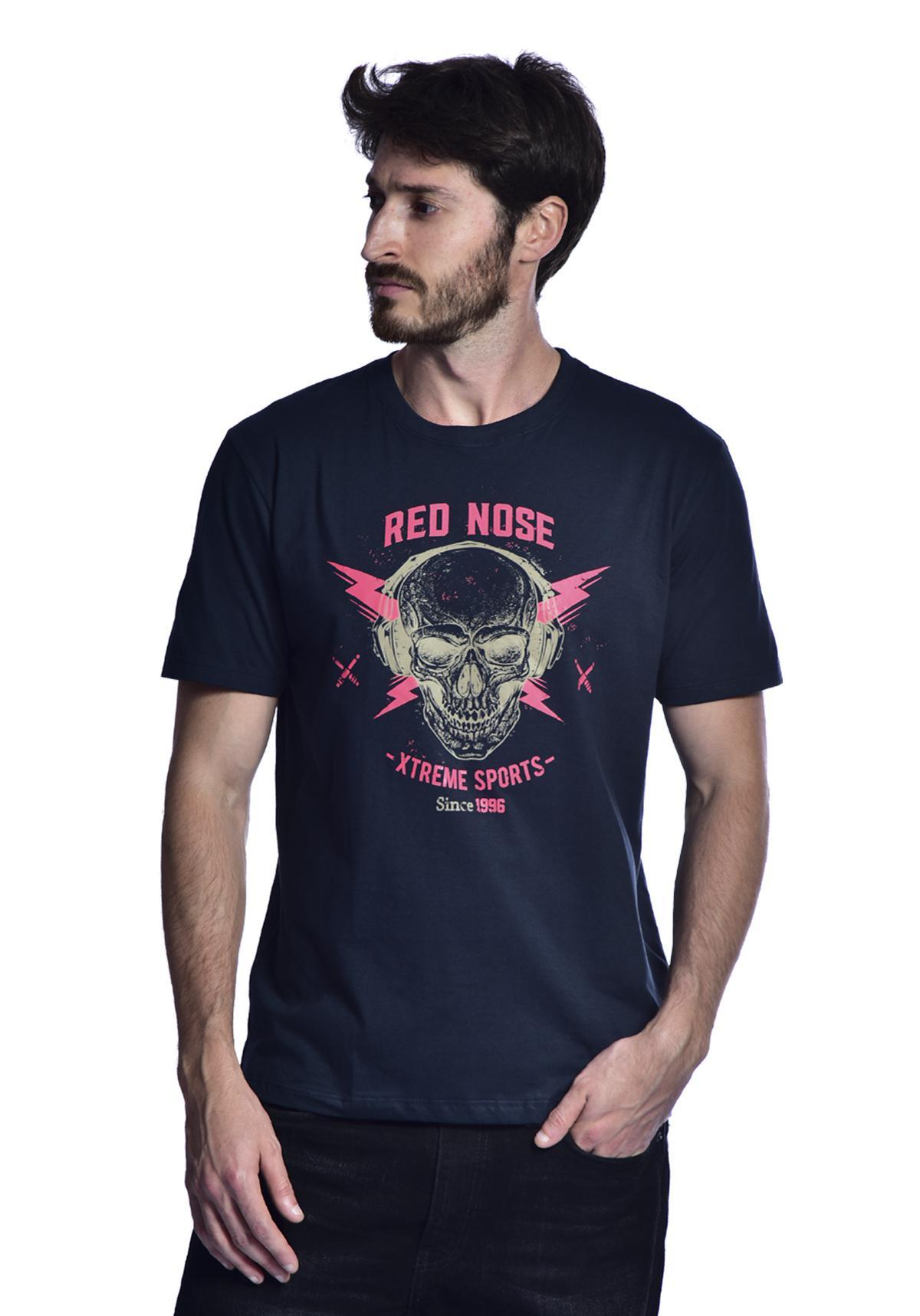 Camiseta Red Nose Caveira Azul Marinho P