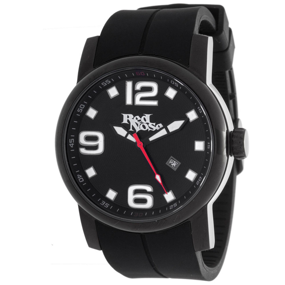 Relógio Red Nose Caving Preto e preto