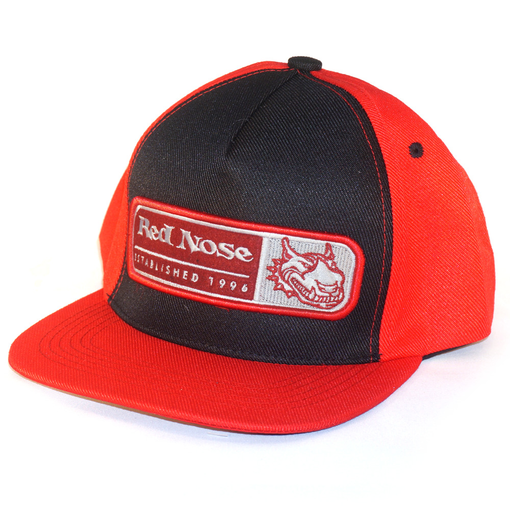 Boné Red Nose Snapback com ajuste Polinext e Dora Vermelho e Preto