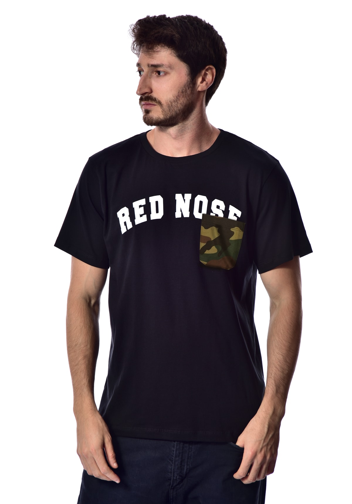 Camiseta Red Nose Bolso Camuflado  - Preto P