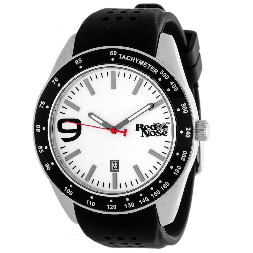 Relógio Red Nose Race Preto e Branco