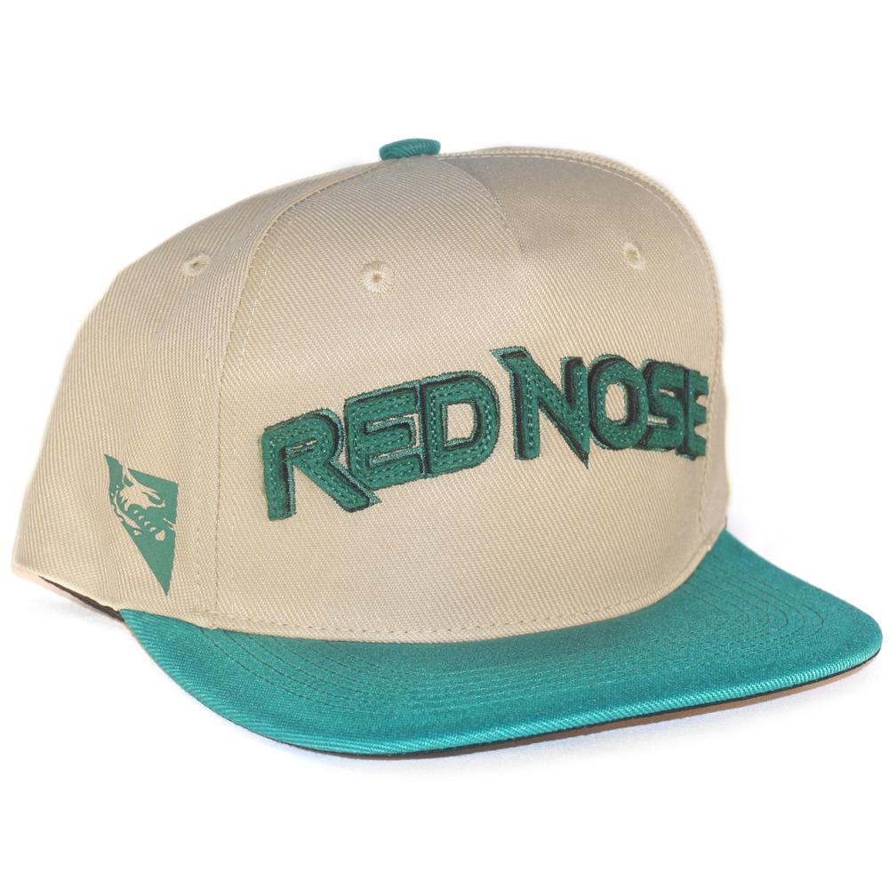 Boné Red Nose Snapback com ajuste Bege e Verde