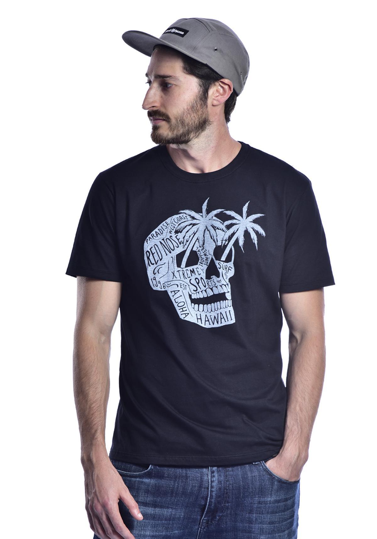 Camiseta Red Nose Caveira Aloha - Preto P