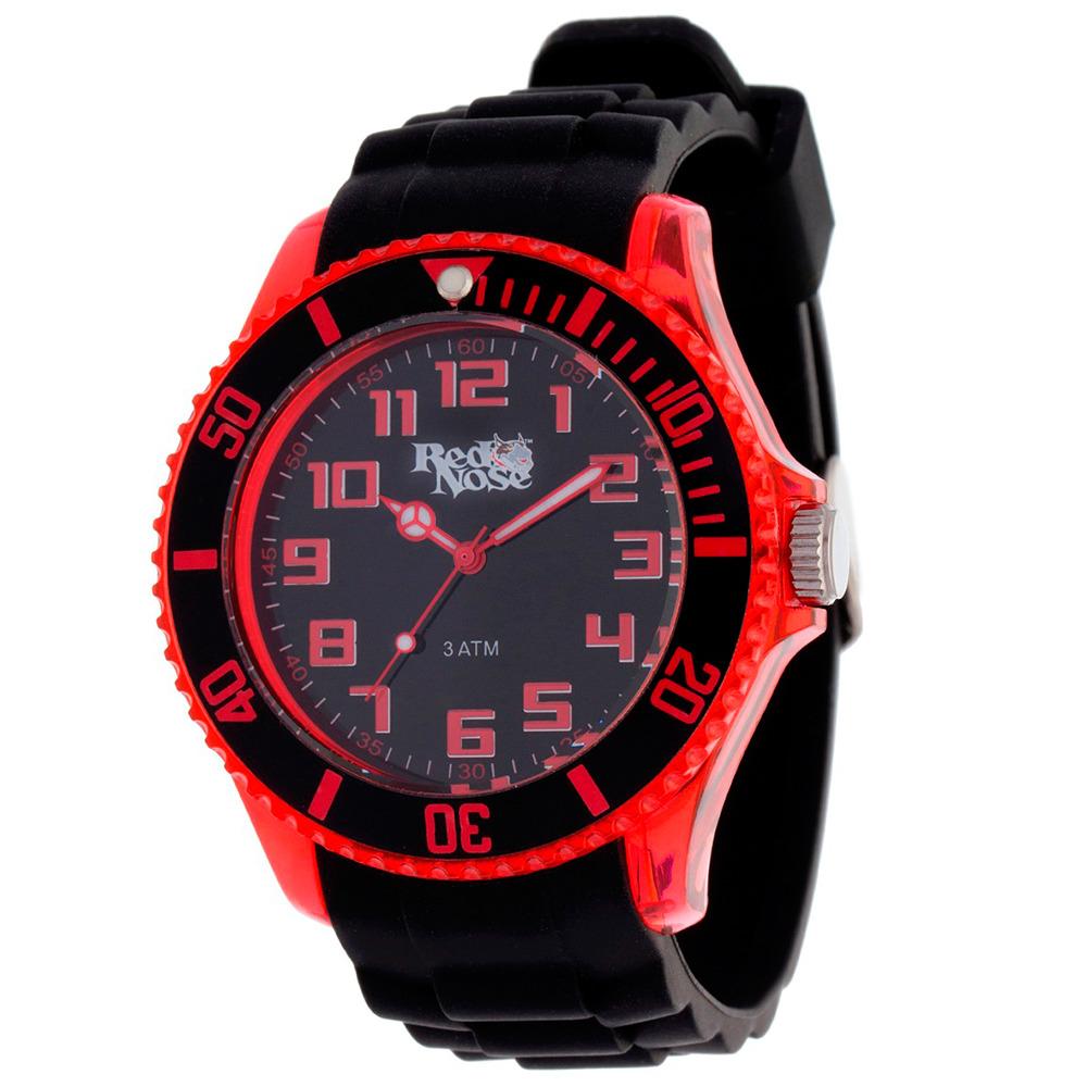 Relógio Red Nose Clear 2 Vermelho