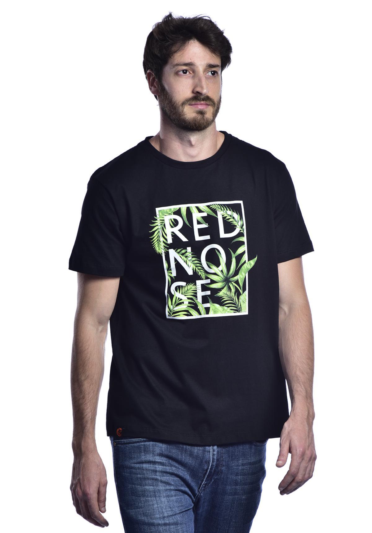 Camiseta Red Nose Floral - Preto P