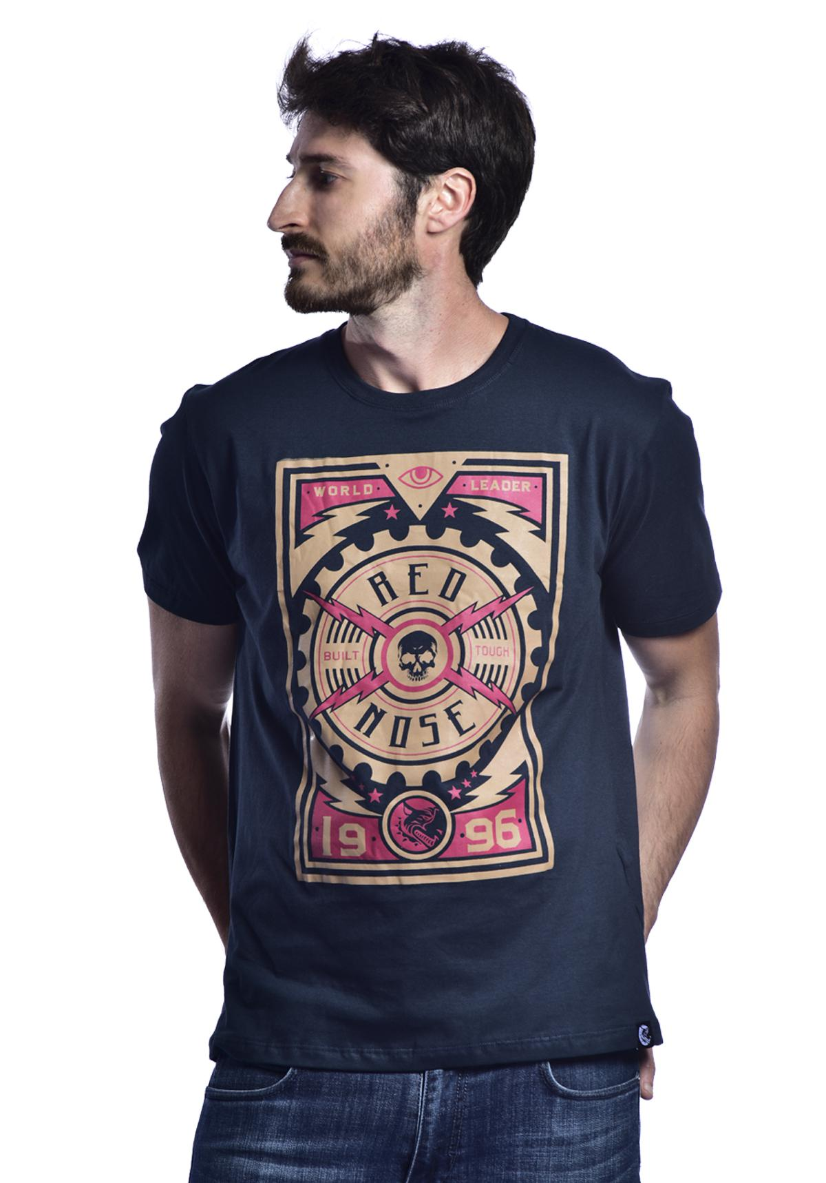Camiseta Red Nose Skull - Azul Marinho P