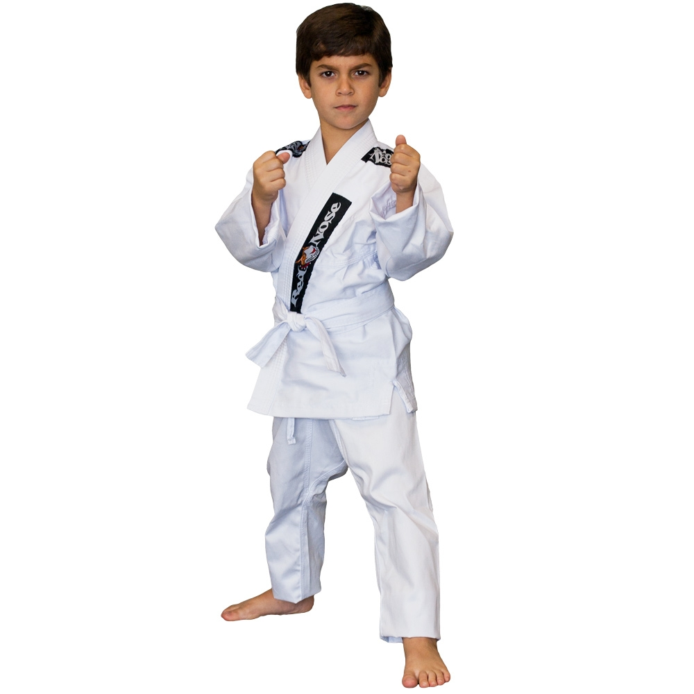 Kimono Infantil Jiu-Jitsu Red Nose Beginner Branco M3