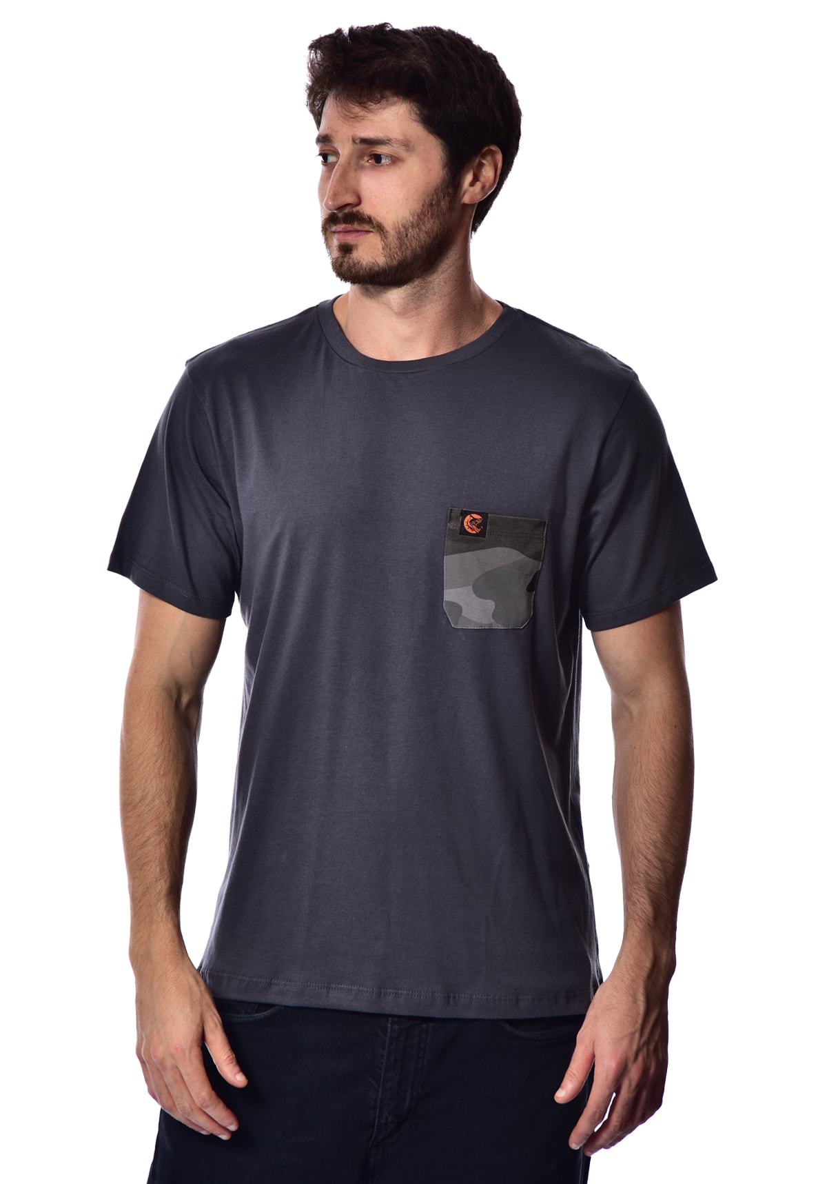Camiseta RN Bolso Camuflado - Chumbo P