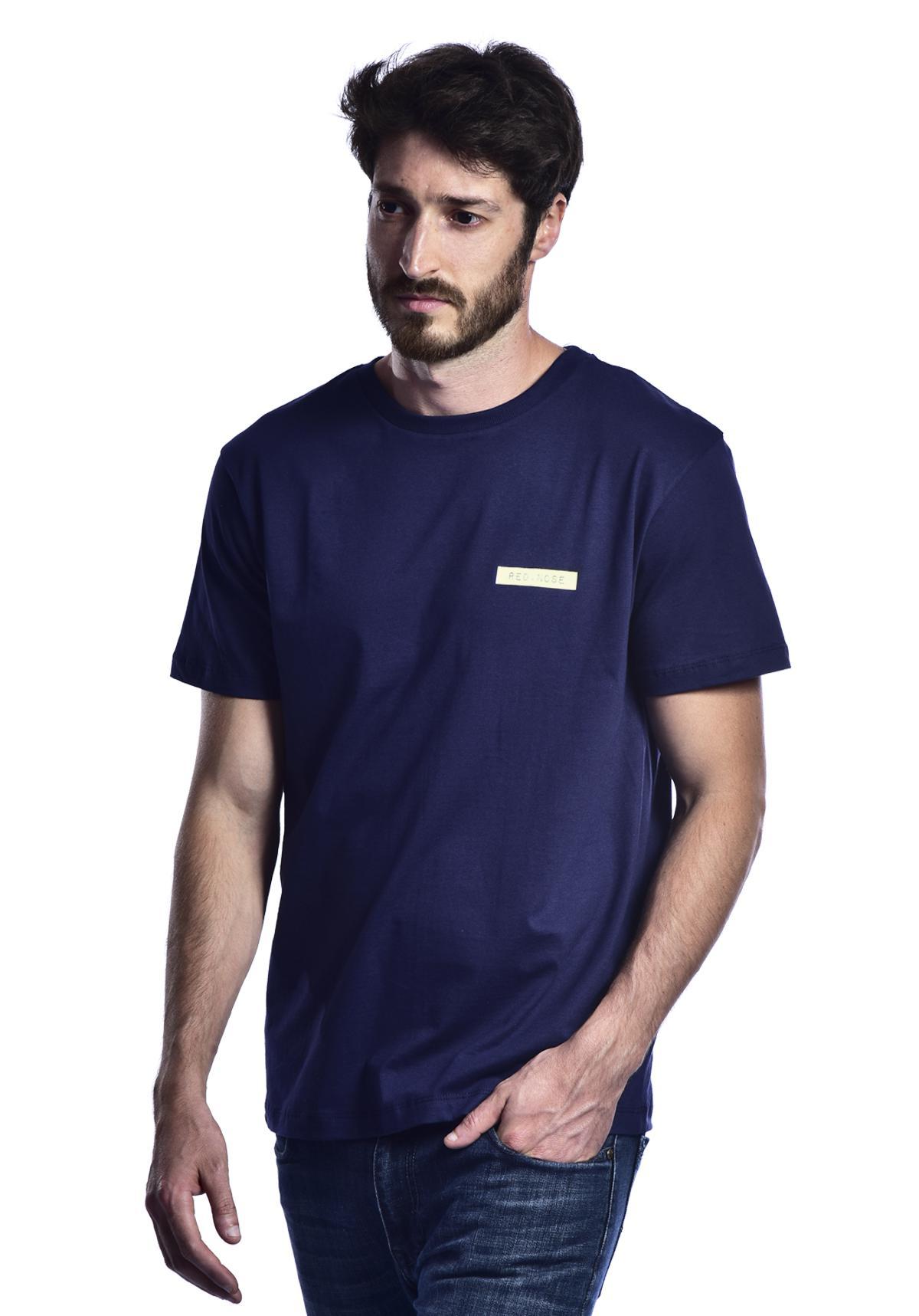 Camiseta Red Nose Etiqueta - Azul Marinho P