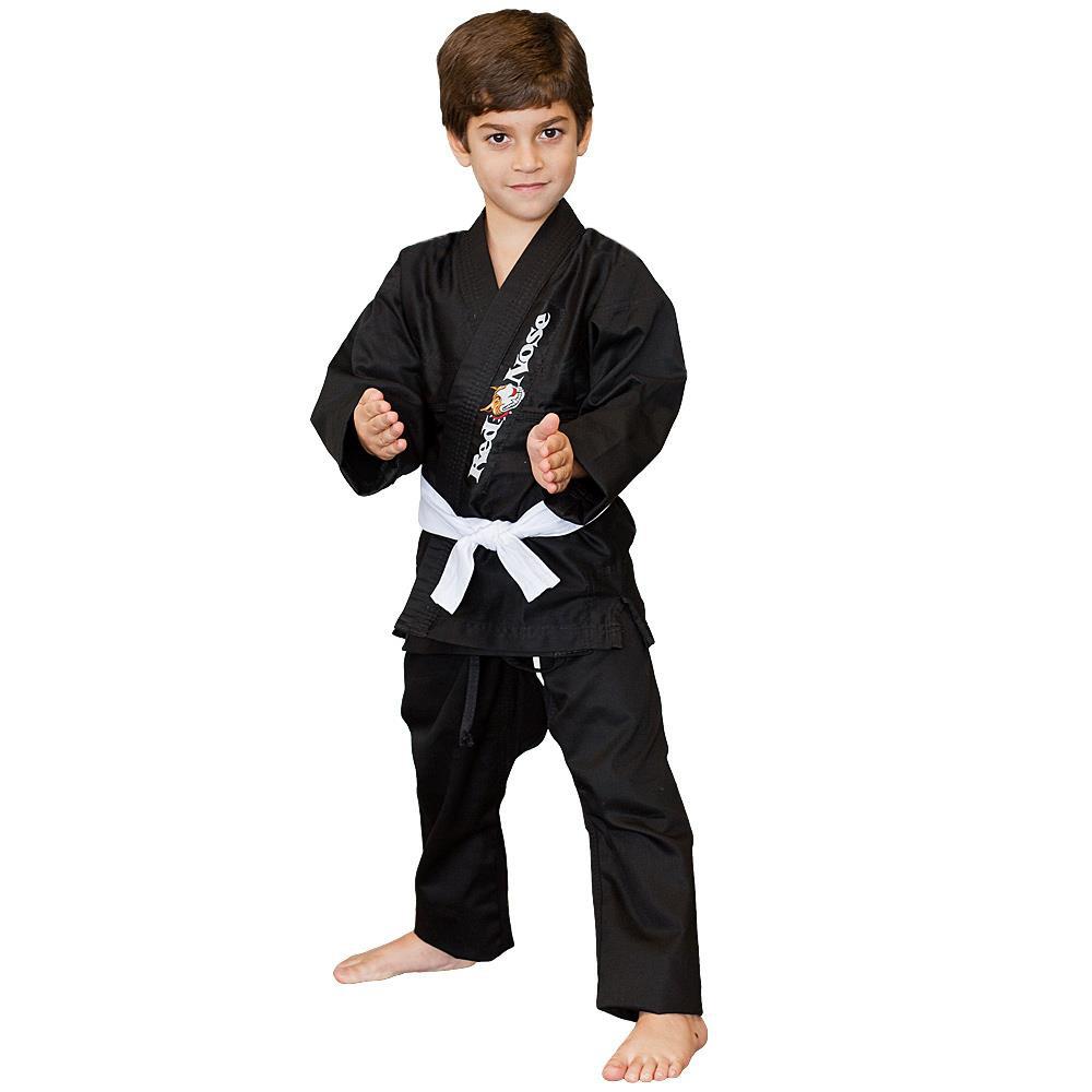Kimono Infantil Jiu-Jitsu Red Nose Beginner Preto M3