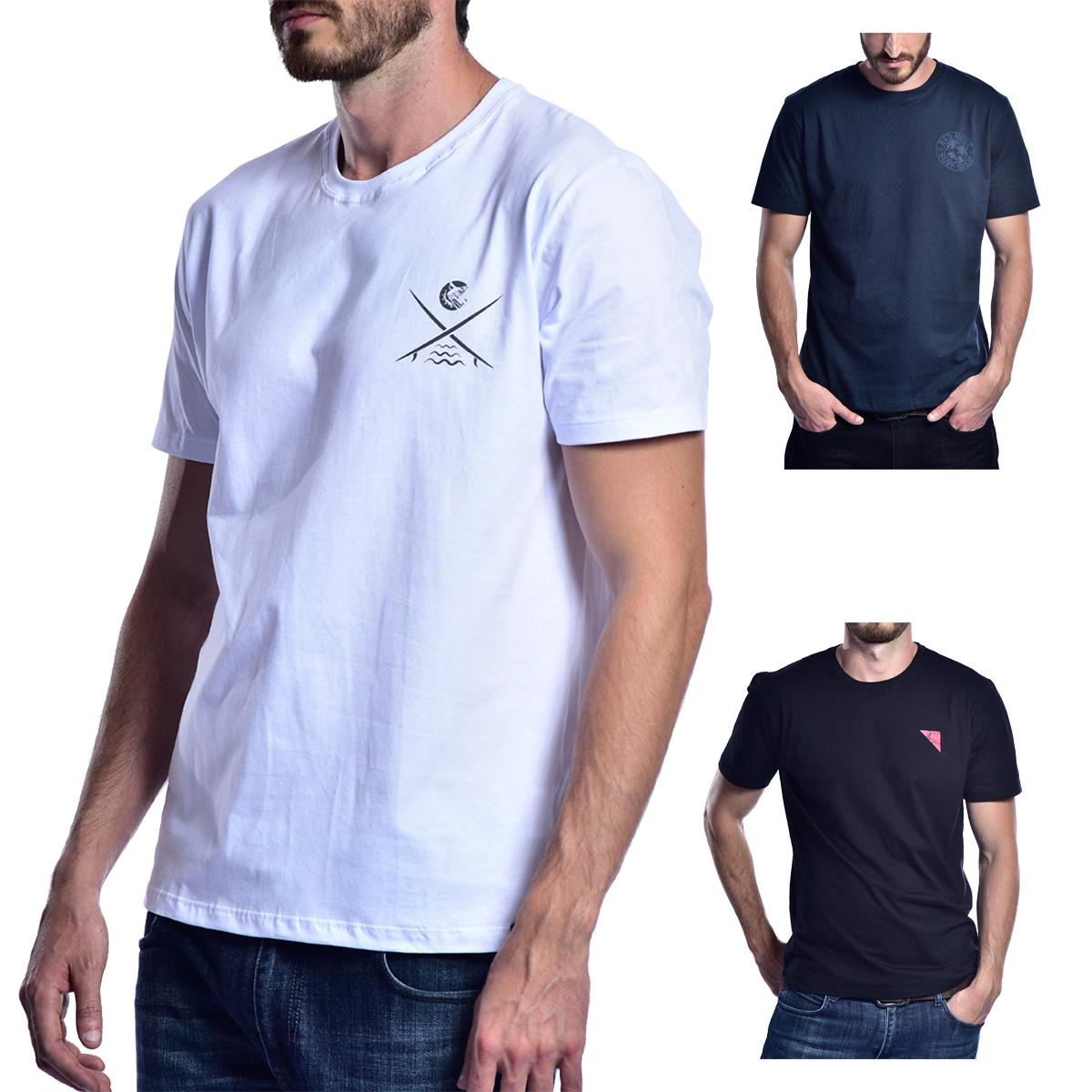 KIT 3 Camisetas Red Nose  - Branco e Azul Marinho e Preto P