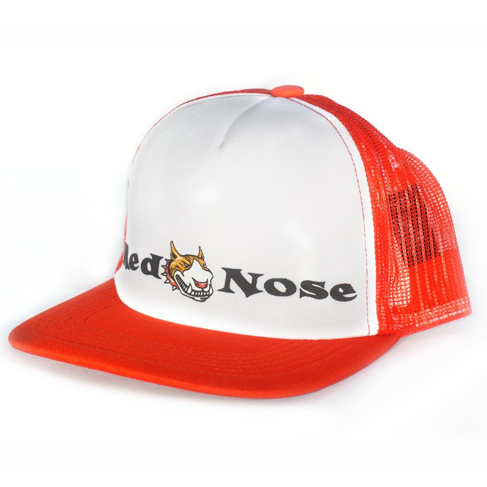 Boné Red Nose Trucker Branco e Vermelho